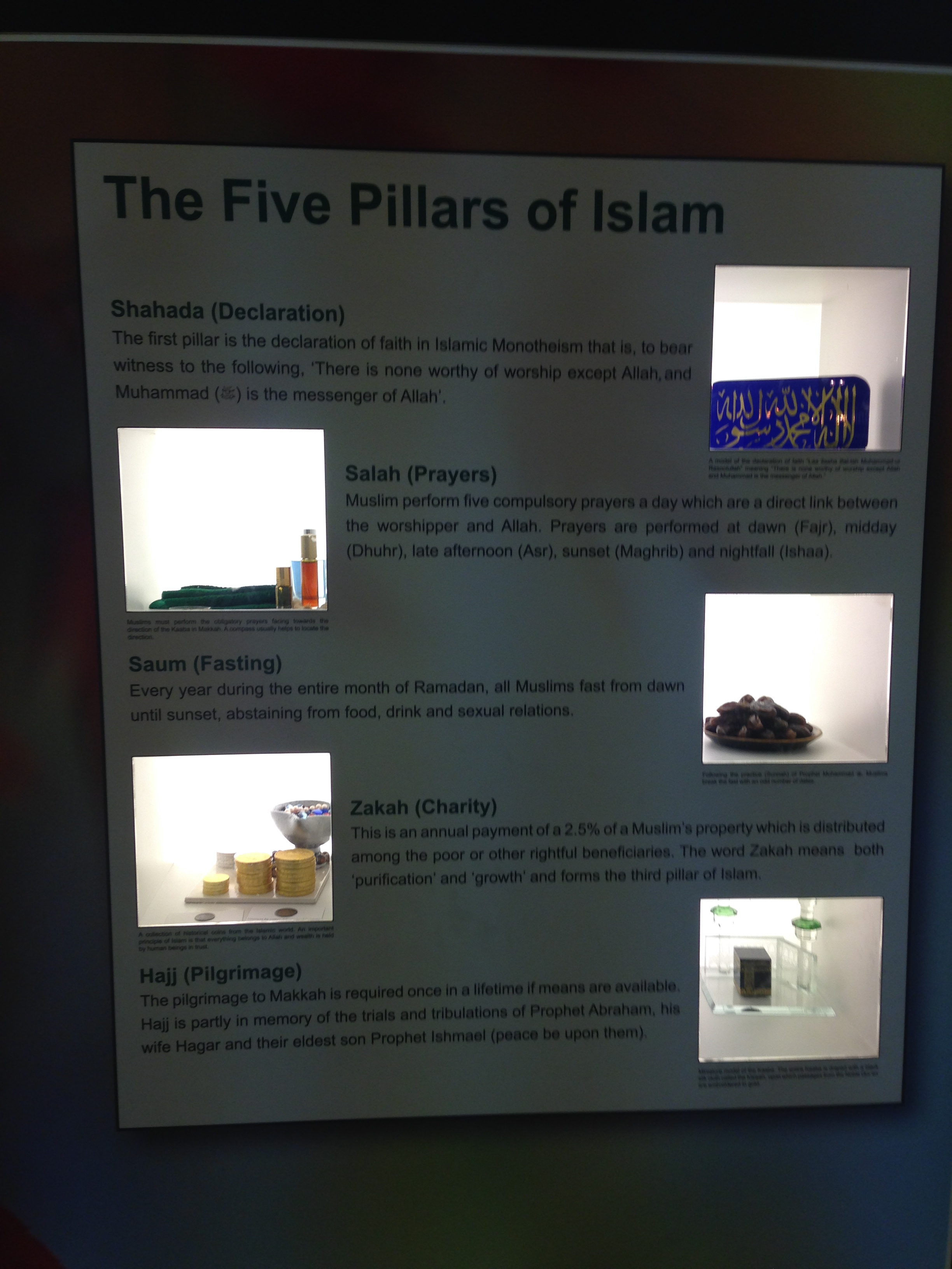 Class 5's trip to the Islamic Cultural Centre and Central